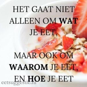 eetsuggestie.nl Mindful eten