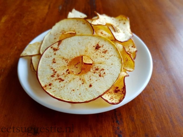 Huisgemaakte appelchips (knappeltjes)