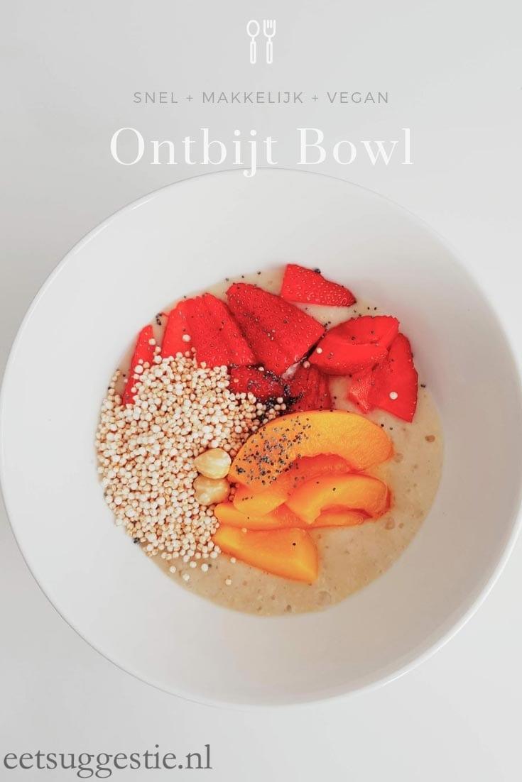 Ontbijtbowl gember-bananen mousse