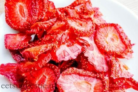 aardbeien chips van eetsuggestie.nl