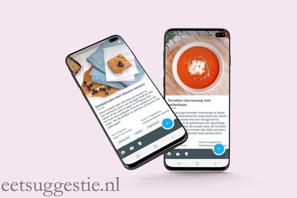 YAZIO app screenshots van eetsuggestie.nl