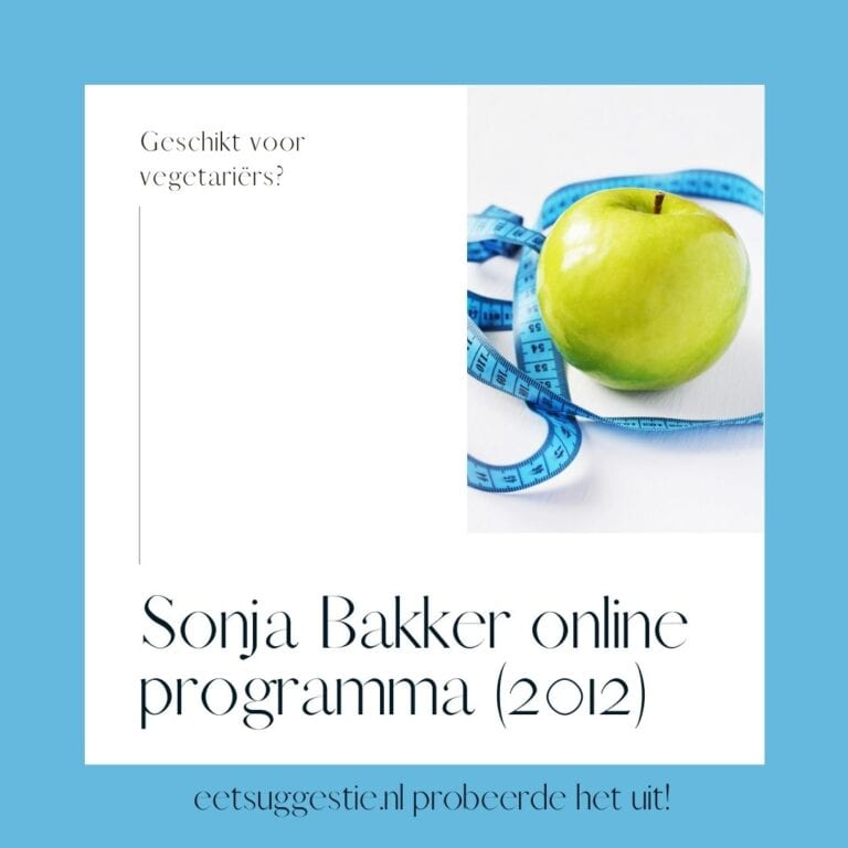Sonja Bakker dieet geschikt voor vegetariërs via online afslank programma?