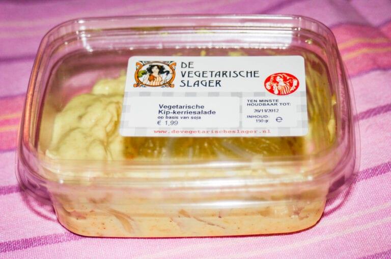 Kipkerrie salade van de Vegetarische Slager