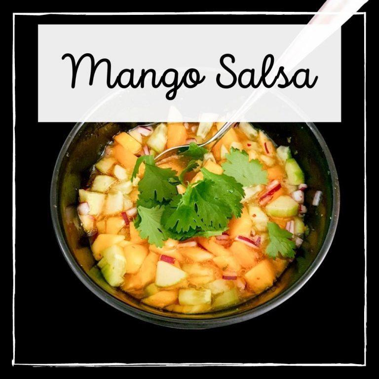 Zomerse mango salsa 😋